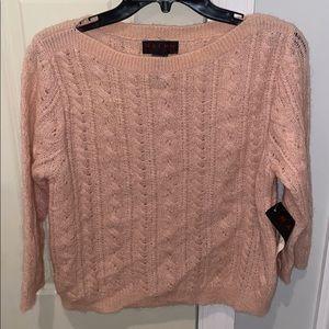 Ralph Lauren Pink Mohair, Nylon, Wool Sweater LRG
